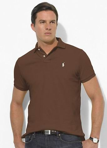 Ralph Lauren Men\u0026#39;s Classic-Fit Mesh Short Sleeve Polo Shirt Chocolate Mousse http:/