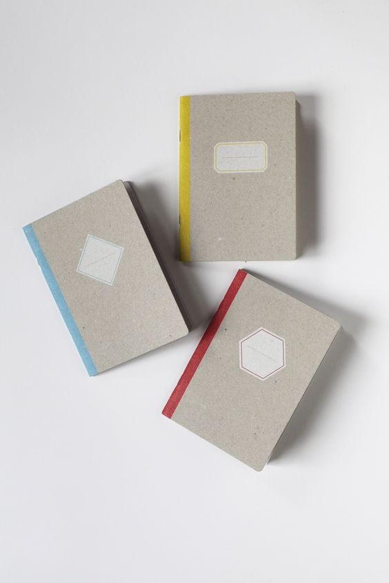 THE SCHOOLBOYS - 3 pocket notebooks, one ruled, one plain and one squared to note and draw, at the office or up on a chestnut tree. By Papier Tigre