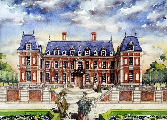 pavillon de chasse louis xiii versailles vers 1635 architecte philibert le roy englob. Black Bedroom Furniture Sets. Home Design Ideas