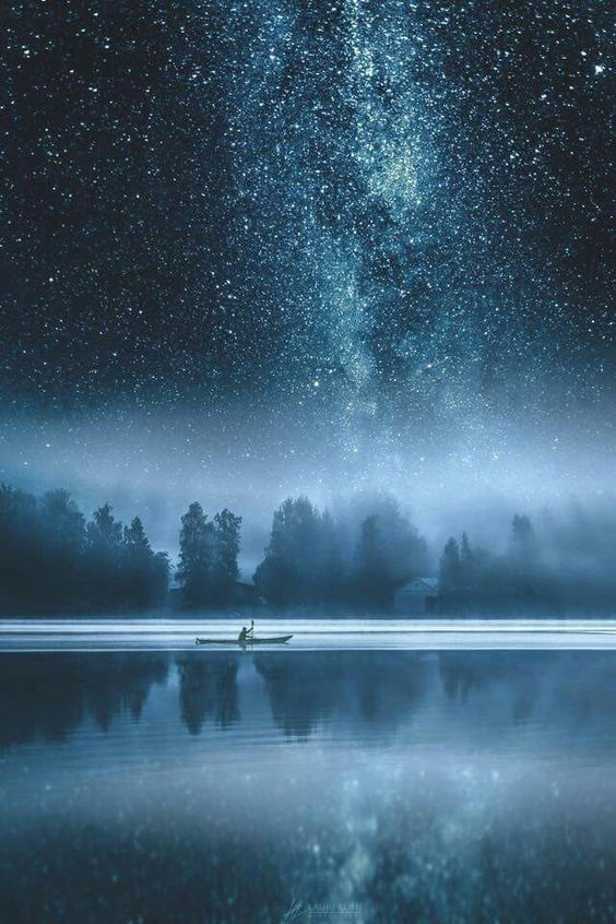 ボートと天の川