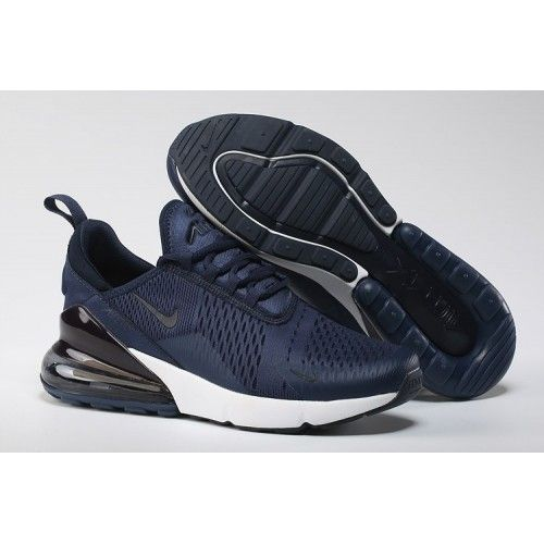 Nike Air Max 270 Flyknit Spectrum Navy Blue White Men's Casual Shoes NIKE