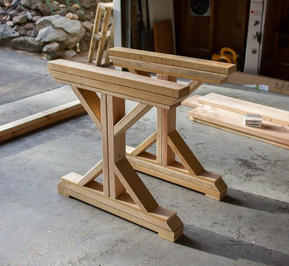 Build A Kitchen Table: Kitchen Chronicles: Building A Fancy X Farmhouse Table