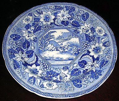 Early-1820s-Blue-Transferware-Plate