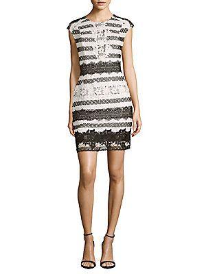 Rossa Sheath Dress In Onyx Ivory Sheath Dress Dresses Fashion