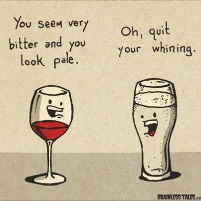 The ongoing battle of #beer and #wine...