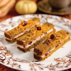 Pumpkin Bread and Cranberry Tea Sandwiches ~ Such a neat use for pumpkin bread (which I love)!!!