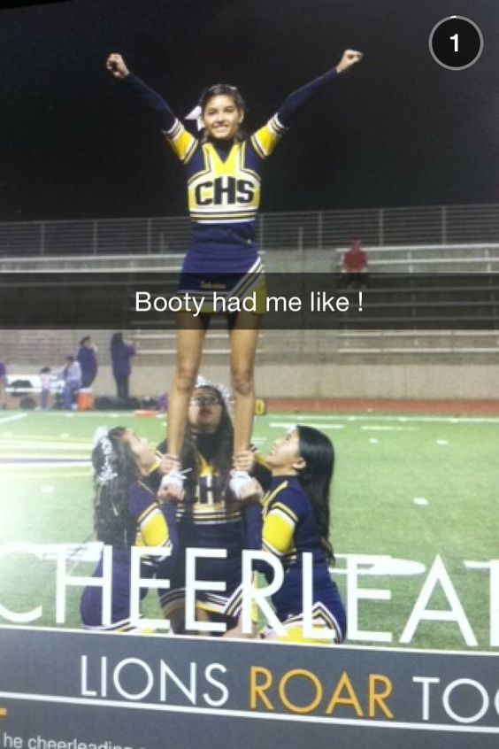 My back spot put this on her snapchat story lmao!