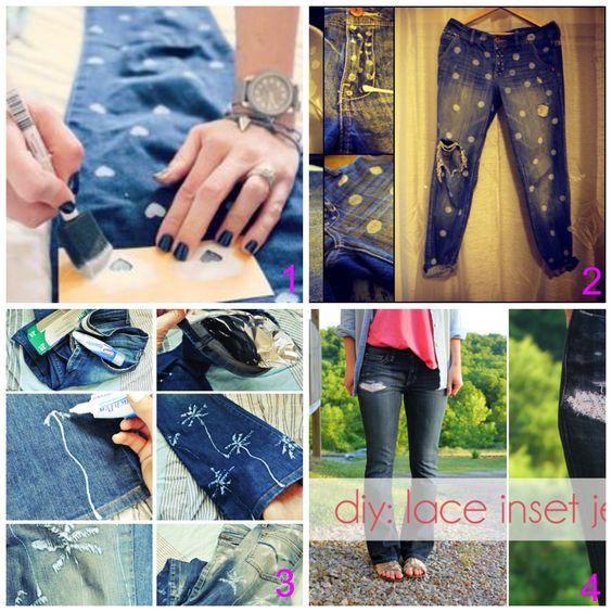 donneinpink- fai da te e consigli per gli acquisti: Refashion vecchi jeans- I tutorial più cool dal we...