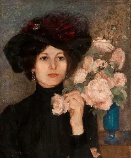Vlaho Bukovac(1855ー1922)「Retrato de la Baronesa Rukavina」