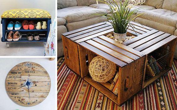 25 idee creative per riciclare le cassette della frutta creando dei mobili esclusivi per la - Idee shabby chic per la casa ...