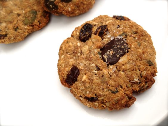It's the everything but the kitchen sink cookie. Imagine a chocolate chip cookie got together with a oatmeal raisin cookie and invited they're friends gluten free and dairy free to come along for the ride. YUM!!!