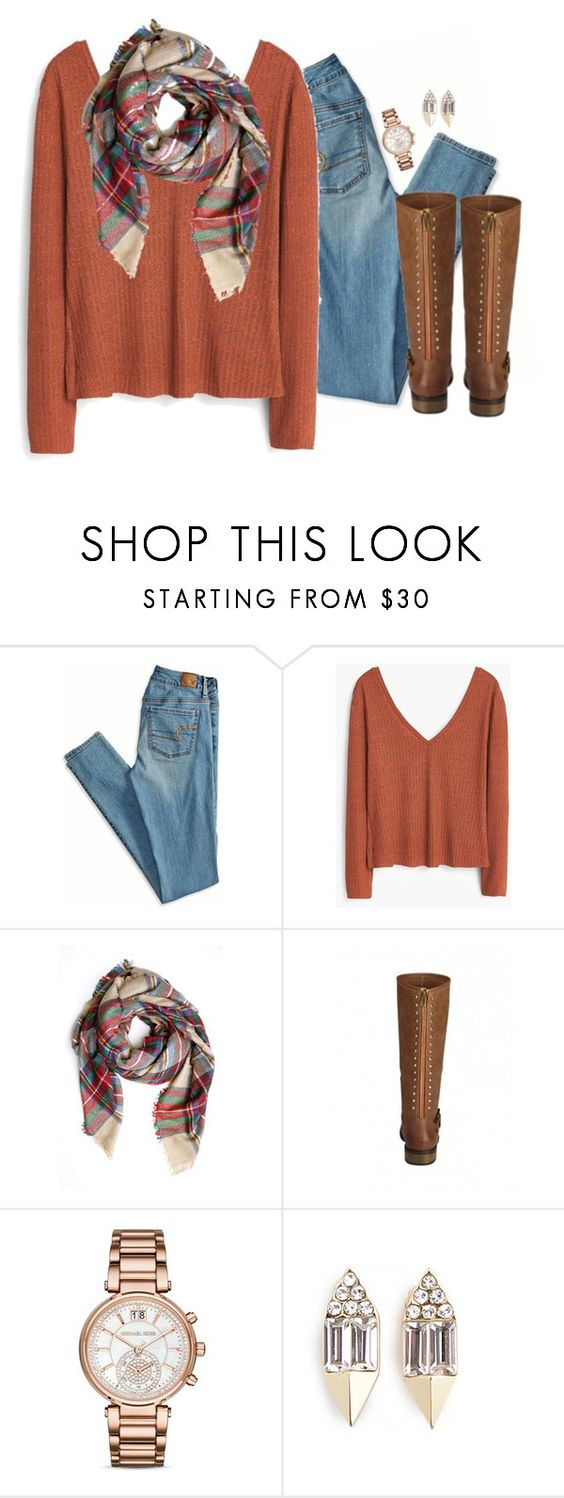 """and I hope you know I want to spend the rest of my life with you."" by kaley-ii ❤ liked on Polyvore featuring moda, American Eagle Outfitters, MANGO, Michael Kors y Carolyn Colby"