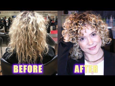 Damaged Blonde Curly Hair Transformation 2c 3b Curls Youtube
