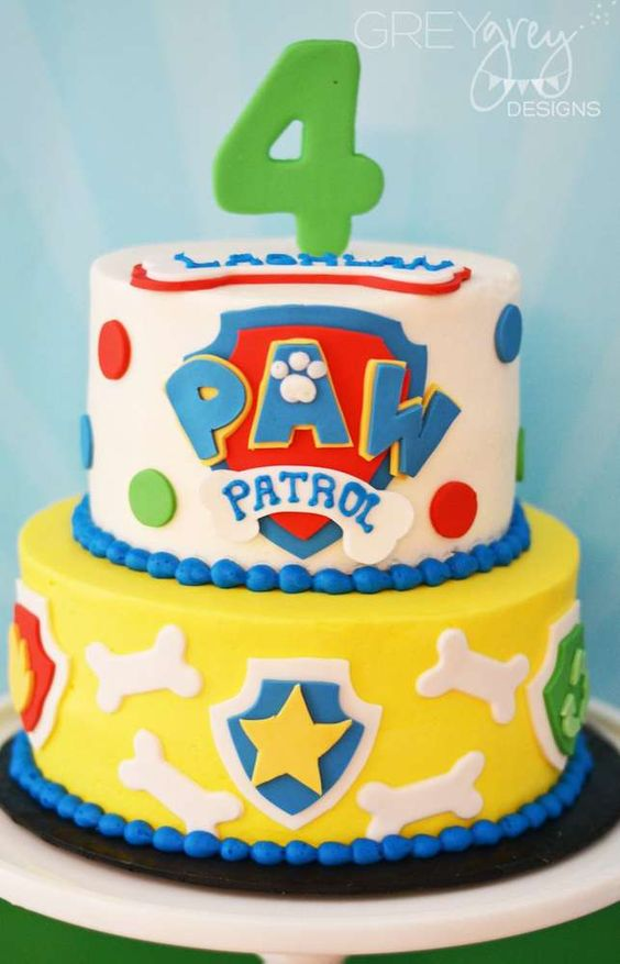 Paw Patrol birthday party cake! See more party ideas at CatchMyParty.com!: