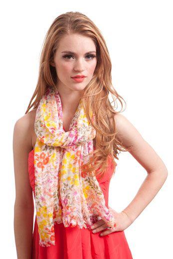 darling flower scarf