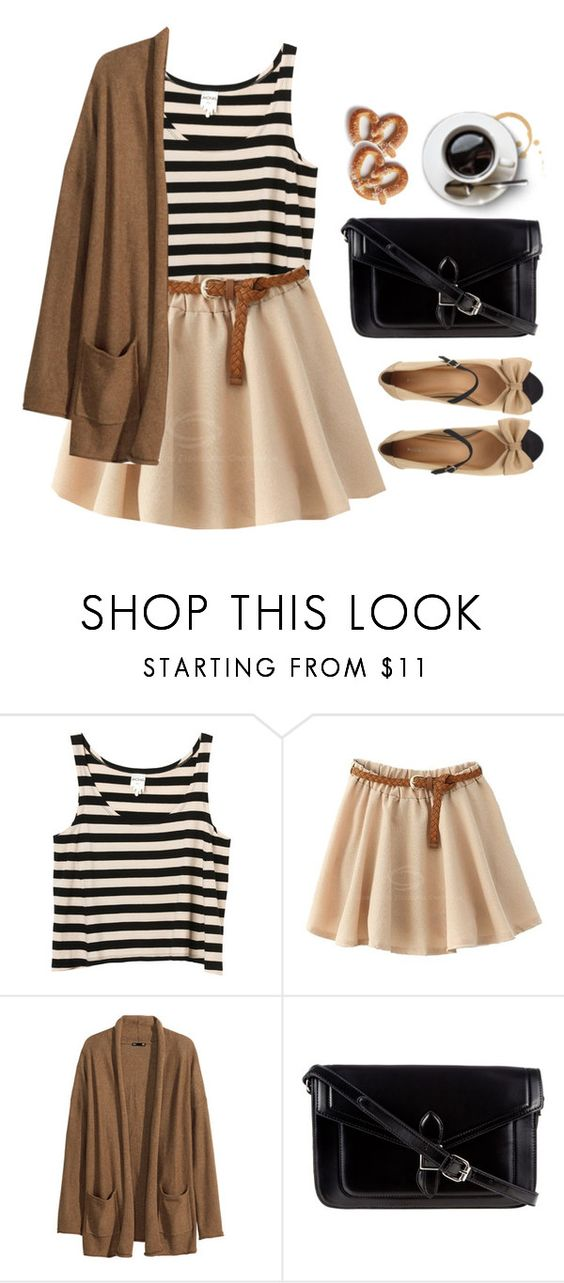 """""""Coffee Date"""" by sweetpastelady ❤ liked on Polyvore featuring MINNA, H&M, ZALORA and Marais USA"""