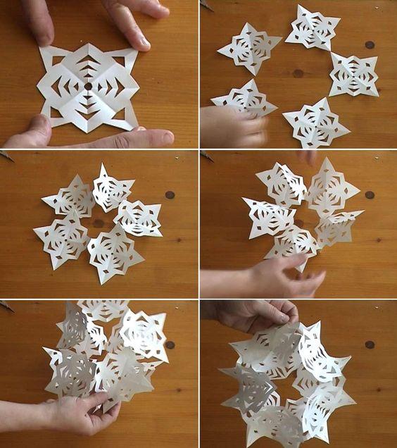 Vctry 39 s blog esfera 3d de copos de nieve de papel - Copos de nieve manualidades ...
