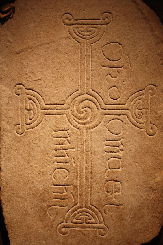 Altar stone, Clonmacnoise, Ireland  (photo by Ellen B.)