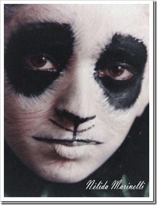 03 Maquillaje, Maquillaje Halloween, Halloween De, Halloween Disfraces, Panda Para, Maquillaje Animales, De Oso, Disfraces Originales, Para Niño