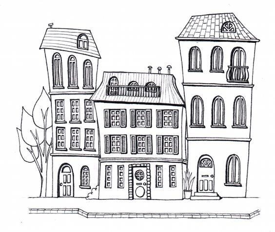 Desenho do Dia #185 - Casinhas, terceira parte - Soraia Casal
