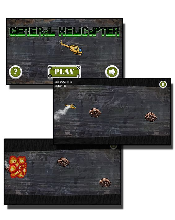 General Helicopter - HTML5 Mobile Game - 1
