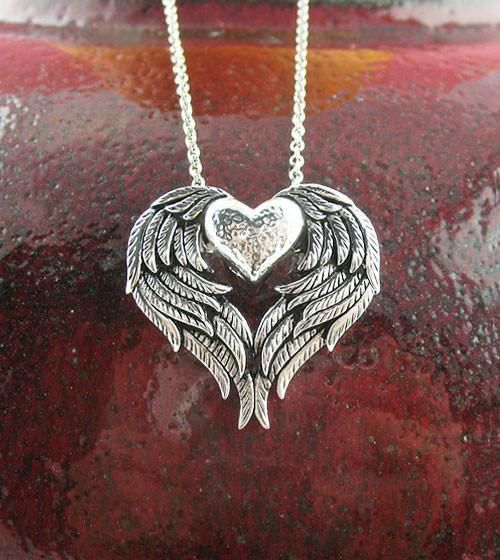 STUNNING 925 sterling PAVE CROSS bronze heart love necklace pendant