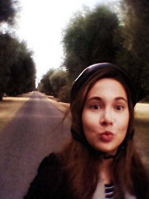 Entrada en bici, bodega Nieto Senetiner!