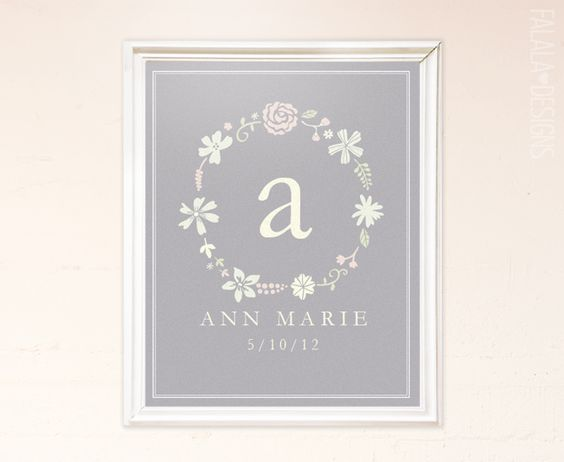 FREE! falala designs: Floral Wreath Printable