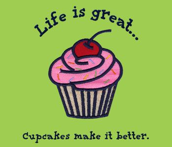 Cupcake saying - would be cute ironed on to the t-shirts @Annie Compean Compean Lo