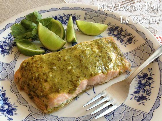 Muy Locos Por La Cocina: Salmón al Horno con Cilantro y Lima