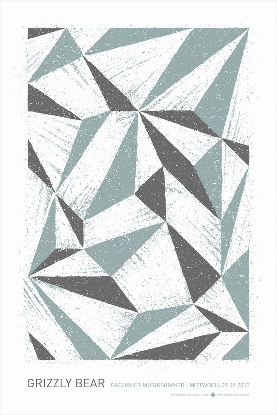 Grizzly Bear Siebdruck Poster