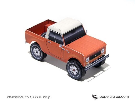 International Scout Pickup paper model | http://papercruiser.com/?wpsc-product=ih-scout-80800-pickup: