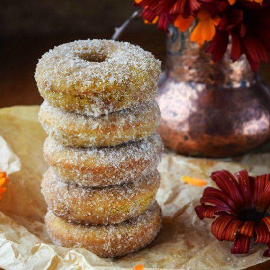 Cinnamon Sugar Pumpkin Spiced Baked Doughnuts