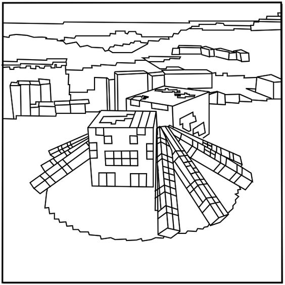 minecraft stampylongnose coloring pages - photo#14