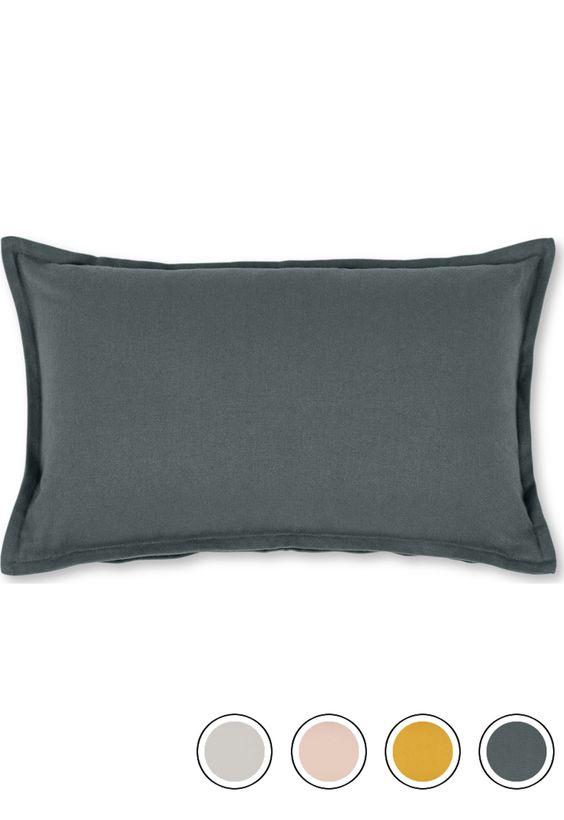 Wespa 30 X 50cm Cotton Cushion Charcoal Charcoal Cushions Cotton