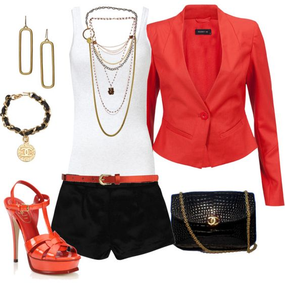 Dress up the shorts, created by verydefinitely on Polyvore