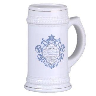 HRH Prince George Blue/White Scroll Coffee Mug
