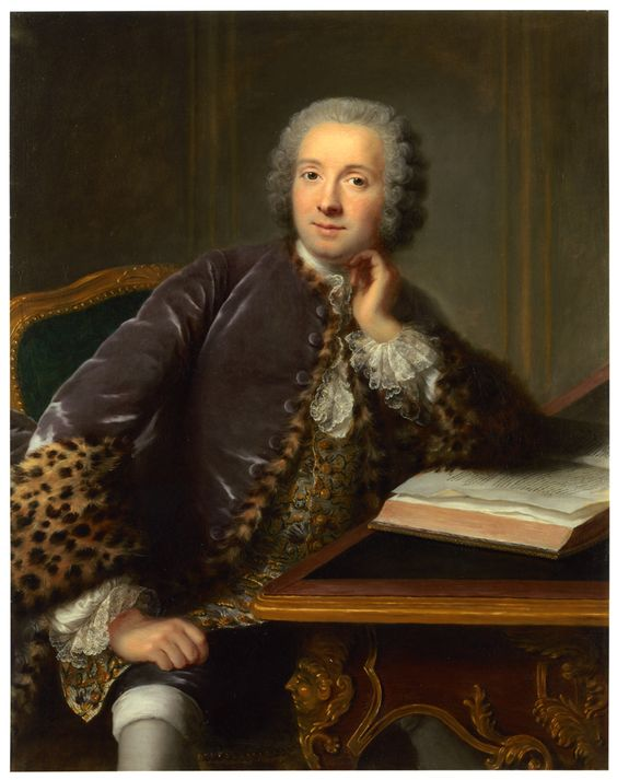 Portrait of a Man Seated at a Desk, ca. 1750, byMarianne Loir (French, ca. 1715-1769):