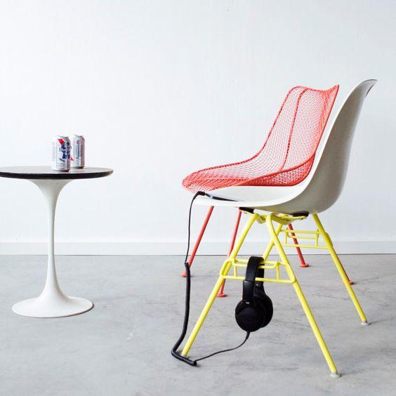 EAMES Yellow Chair Base ONLY C&C Custom Powder von castandcrew