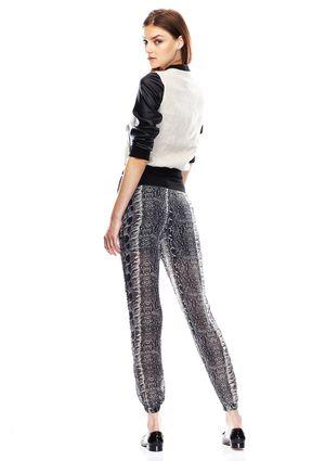COSTA BLANCA Woven Snakeskin Print Pants