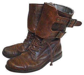 AllSaints All Saints Leather Brown Boots