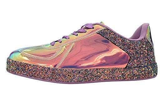 ROXY ROSE Womens Sneaker Flats Metallic