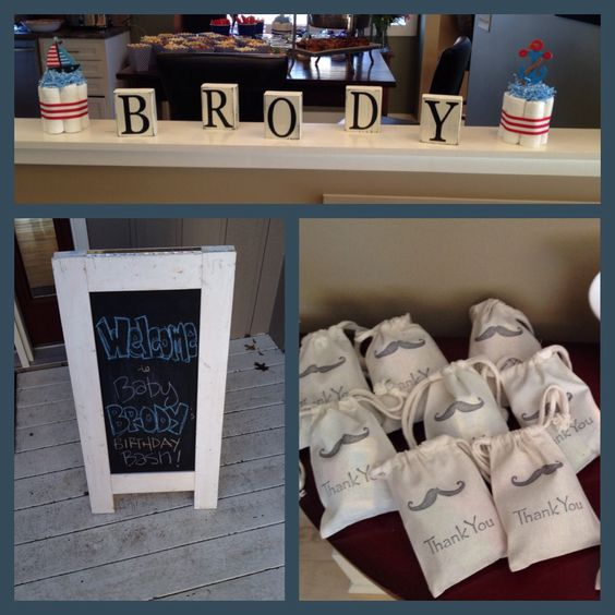 Boy Baby Shower.. The mustache bags are cute
