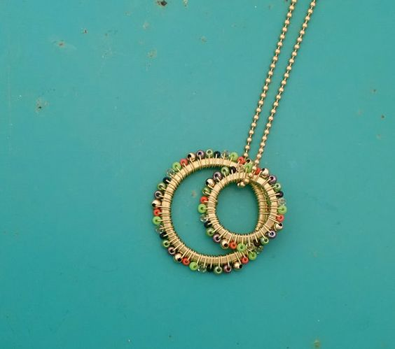 double ring necklace.