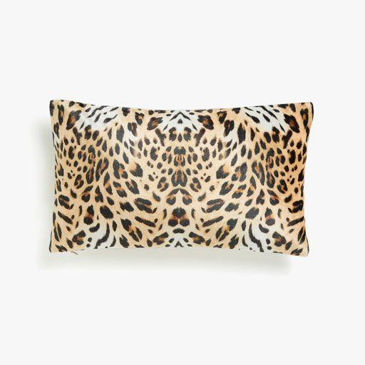Imagen del producto Funda de cojín estampado de leopardo