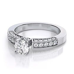 Sweetheart Diamond Engagement Ring in White Gold - I Love it!