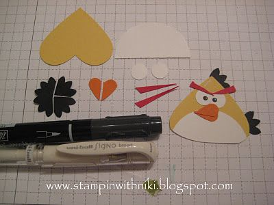 Stampin With Niki: Angry Birds Tutorial - Yellow Bird