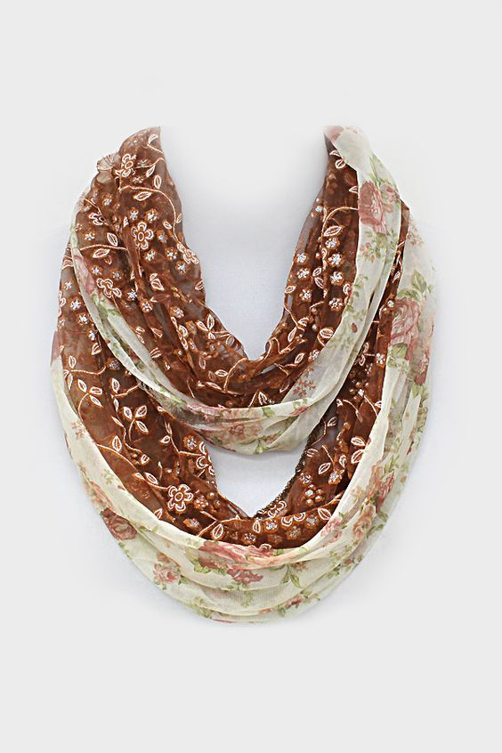 Josie Lace Scarf in Umber
