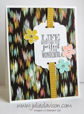 Petite Petals Double Punched Tag Card