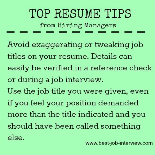 Job titles and writing your resume Job Search, Job Interviews - resume to interviews